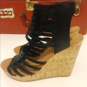 Dolce Vita Cork Wedge Gladiator Sandals